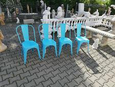 Retro Designer Stahl Stühle Aluminium Stuhl Set Garnitur Lehn 4 Sitzer Set Neu