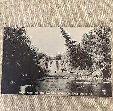 Lake Superior Post Card Vintage High Falls of the Baptism River Photo Chrome