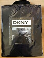 DKNY Luxe Pintuck Navy Single Duvet Cover and One Queen Shams - New, Sealed
