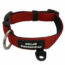 PREMIUM RED Dog Collar  2 LAYER  Neoprene+nylon with 4 Sizes of collar