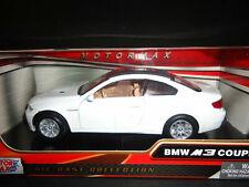 BMW M3 Coupe - White , Classic Metal Model Car, Motormax 1/24