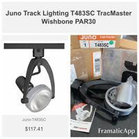 Juno Lighting T483 SC Trac Master Spotlight for track lighting fixture black sil