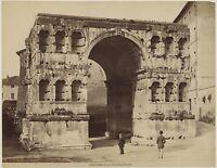 Arco Janus Postal- Roma Italia Vintage Albúmina Aprox 1880