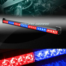 "31.5"" RED & BLUE LED TRAFFIC ADVISOR EMERGENCY WARN FLASH STROBE LIGHT UNIVERSAL"