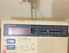 Vintage Sony Dream Machine FM-AM 2 Bands Clock Radio Alarm TESTED Works
