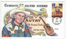 SSS: Collins Hand Painted  FDC  2010  44c  Cowboys  Gene Autry     Sc# 4449