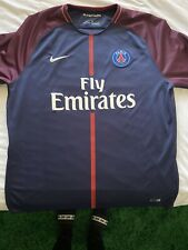 Used Nike PSG Paris Saint Germain Jersey Men's XXL XX-Large 2017/2018 Navy Blue