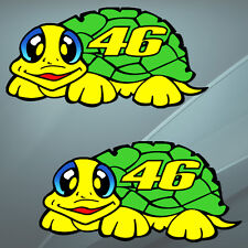 2 Stickers Auto Moto Bike Valentino Rossi The Doctor 46 Turtle Yamaha Helmet B 4