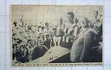 1960 Brian Bennett Receives Surrey Senior Cup , Hw Trim Surrey County