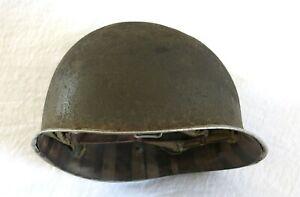 CASQUE AMÉRICAIN, casque US et son liner, casque ww2, casque US WW2, Cherbourg