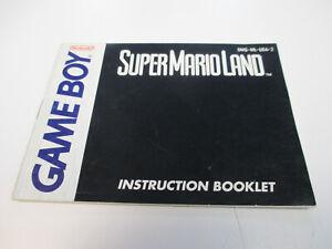 Super Mario Land 1 Nintendo Game Boy Instruction Manual Booklet ONLY