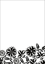 * PORTA CRAFT * Embossing Folders C6 (106*150mm) Floral Base