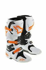 KTM Alpinestars Tech 10 White/Orange Boots Size: 7 US / 40.5 EU