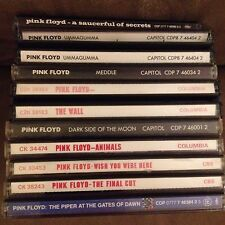 CLASSIC PINK FLOYD Music CD Lot (9) 1967-1983