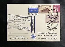 1er VOL SANS ESCALE FRANCE / AMERIQUE DU SUD - RAID INTERROMPU 17 FEVRIER 1935