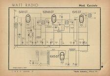 Radioricevitore Watt Radio Mod. Cucciolo Universale Radio Industria Milano 1942