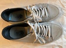 Well Worn Used Vans Canvas Sneakers Men's 9 Gray Black Low Top Skater Punk