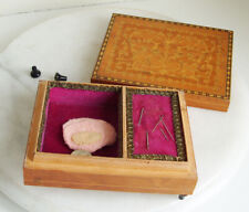 Wooden Sewing Musical Lacquer Box