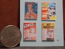 Dollhouse Miniature Vintage Magazines Books Teen 1:12 scale H116 Dollys Gallery