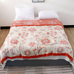 gauze blanket 6 layers pure cotton blanket bed cover 100% cotton active printing