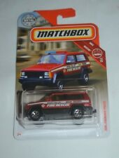 2018 MATCHBOX MBX RESCUE JEEP CHEROKEE POLICE RIVER VALLEY FIRE RESCUE 12/20
