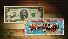 Declaration of Independence S/N # of 76 Rency SIGNED $2 Bill - BANKSY WAS HERE