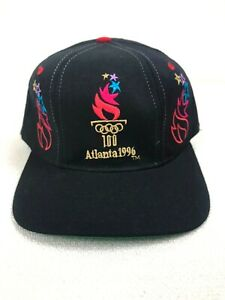 Vintage 90s Deadstock Olympics Hat Wool USA Atlanta Starter Dream Team 1996