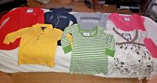 Lot of 7 Abercrombie and Fitch Womens Mixed Shirts XS Ex-small