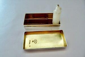 1853 THOMAS JOHNSON I - SOLID SILVER - COMBINATION TRAVEL VESTA CASE/CANDLE BOX