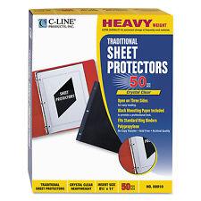 C-Line Traditional Polypropylene Sheet Protector Heavyweight 11 x 8 1/2 50/BX
