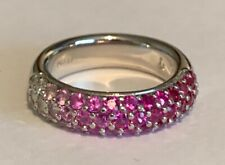 To Diamond Band, Pave Set Mark Patterson Design Platinum Ruby