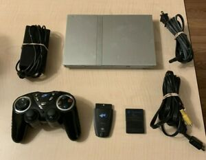Sony PS2 PlayStation 2 SLIM SILVER SCPH-79001 CONSOLE+CONTROLLER+MEMORY+CABLES