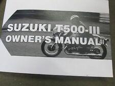 Suzuki T500 owners manual 1970