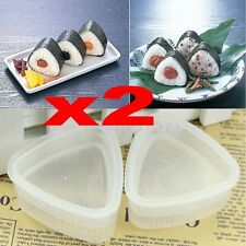 2set New Triangle Form Sushi Mold Onigiri Rice Ball Bento Press DIY Maker Mold