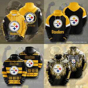 Pittsburgh Steelers Hoodie Football Sweatshirt Men Casual Jacket Hooded Pullover