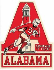 University Of Alabama   College Vintage Looking  Travel Decal Sticker  Football