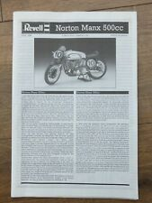 Revell 07934 - Manx Norton 500cc - 1/9 Scale Model Kit Instructions Only.
