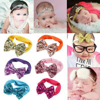 Kids Girls Baby Headband Crystal Bow Flower Hair Band Accessories Headwear Gifts