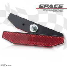 Rückstrahler Space rot 19 mm x 98 mm mit Gewindebolzen M5 Reflektor Motorrad