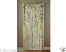 Cortina de puerta de Bambú Verde Granos De Cables * hecho a mano pantalla interior/exterior