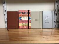 """Lot: 4 4"""" x 6"""" pocket-sized notebooks with lined paper VERY GOOD condition"""