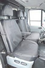 Ford Transit MK7 (06-13) Tailored Waterproof Tough Heavy Duty Black Seat Covers