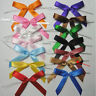 25pcs Satin Pre-Tied Ribbon Bows in wedding or birthday Party - 17 colors