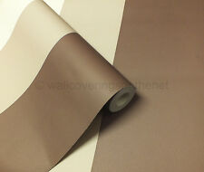 Cream, Brown and Mocha Striped Wallpaper