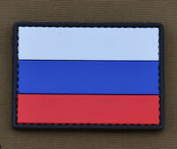 "PVC / Rubber Patch ""Russian Flag"" with VELCRO® brand hook"
