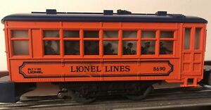 Lionel No. 8690, Lionel Lines Trolley Car, blue roof, ca. 1986