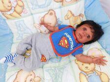 Reborn baby boy doll ethnic biracial AA Abraham Ready to ship OOAK