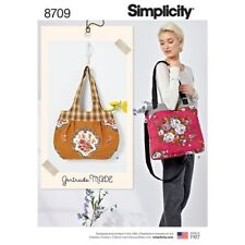 Simplicity Sewing Pattern 8709 Bags Retro Shoulder Cross Body Bag Gertrude Made