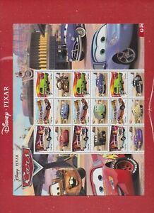 Australia Souvenir Sheet Disney Pixar Cars Stamp Sheetlet MNH.