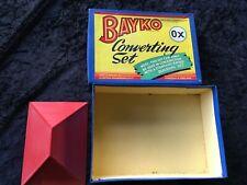 Vintage collectable bayko converting set construction toy original box